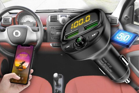 FM predajnik PrimeDrive, 2 USB, Bluetooth 5.0