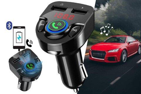USB punjač i FM odašiljač CarMusic, 2 USB, Bluetooth