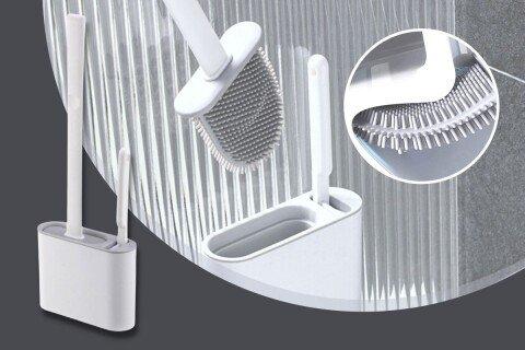 BendBrush toaletni set, gumena četka, četka i stalak