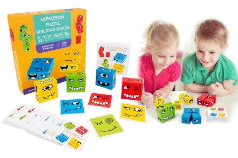 Zabavna igra CubeFace, 3+ let, les, 4 igralci