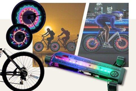 3D LED svjetlo za bicikl RainbowWheel, višebojno