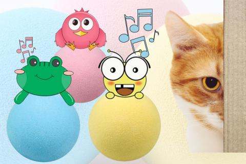 FelineToy loptica koja pjeva, zvuk životinja