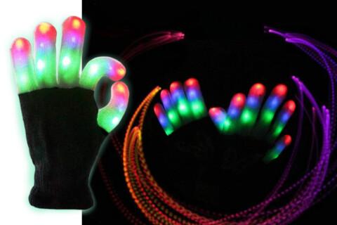 Rukavice MagicGloves, LED lampice na vrhovima prstiju, univerzalna veličina