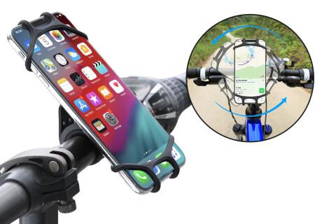 Silikonski držač HoldPhone za bicikl, motor ili kolica, 360° rotacija, protivklizajući silikon