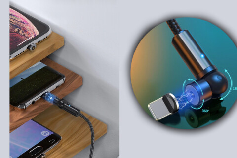Magnetni kabel MagicCharge USB 3 v 1, 3.0A, mikro USB, USB-C, 8 pin