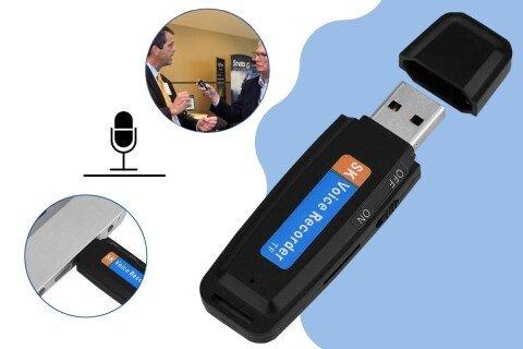 USB priključak s diktafonom USBrecord, crni, 2 u 1