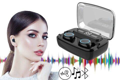 Brezžične slušalke DreamySound, LED zaslon, Bluetooth 5.0, ergonomsko oblikovane