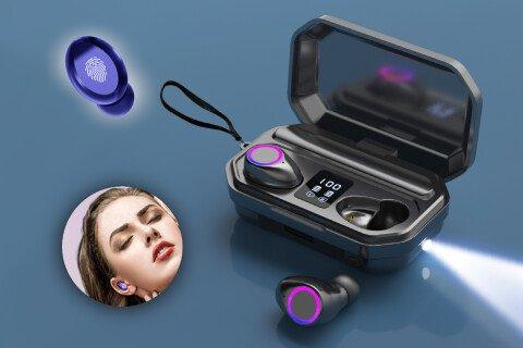 Bežične slušalice in-ear PrestigeSound, 9D zvuk, lampica