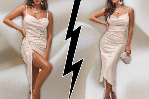 Elegantna ženska haljina LadyDiva, bež, S-XL