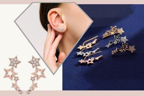 Elegantne ženske naušnice FallingStars, zvjezdice, 3 boje